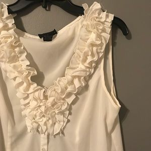 Spense Blouse with Ruffle detail Button Down